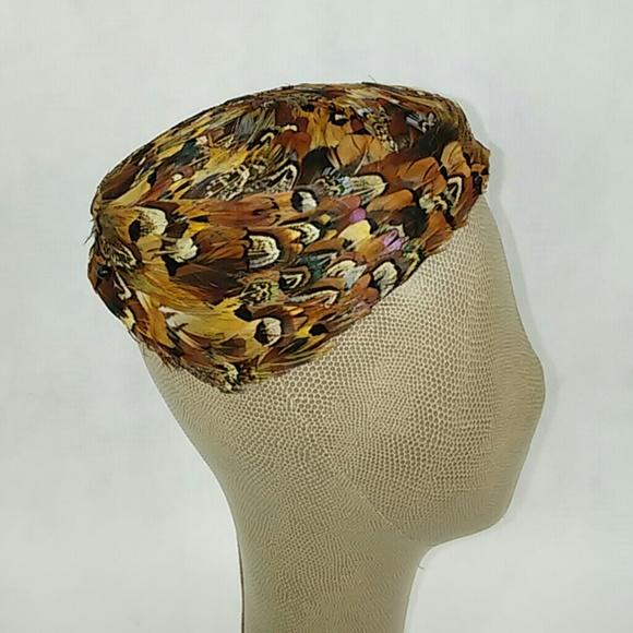 Custom vintage feather hat